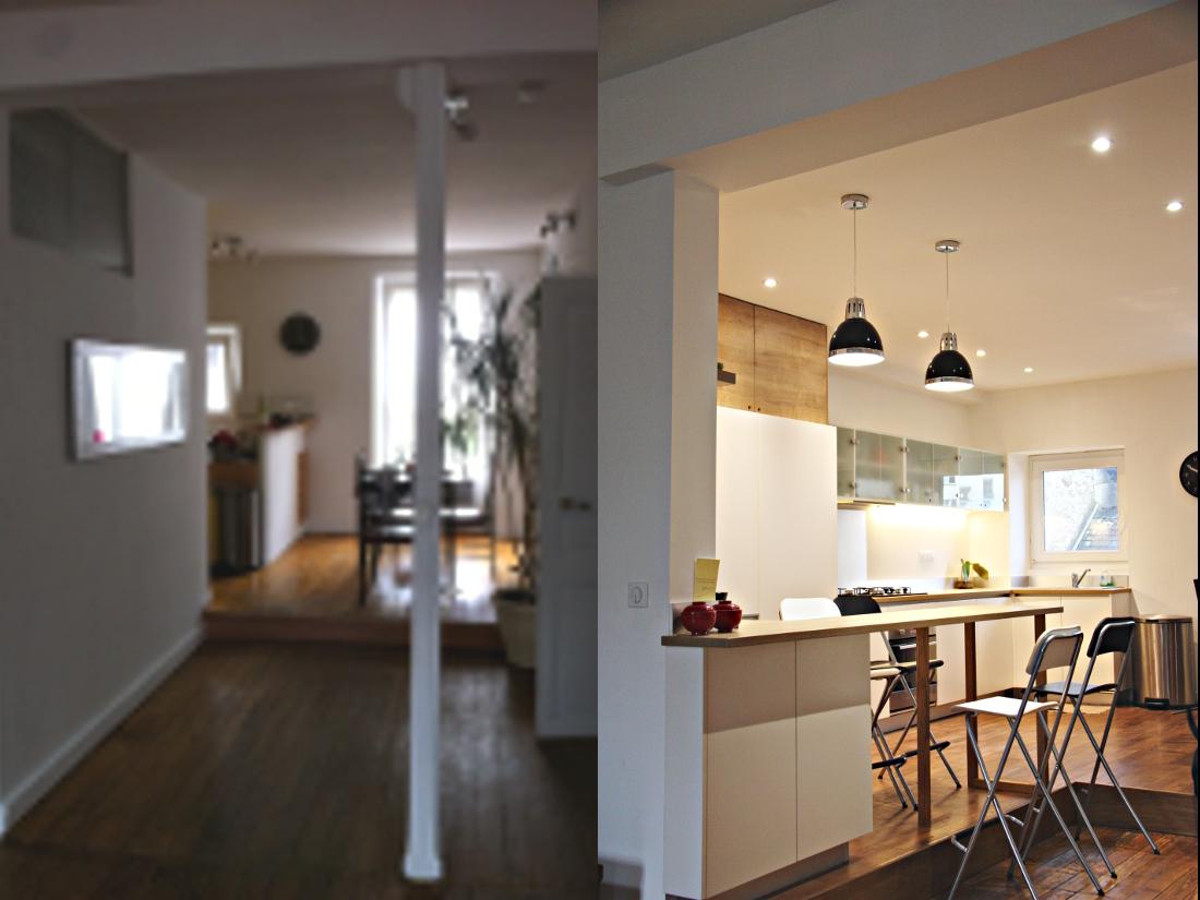 Rénovation cuisine appartement Rezé