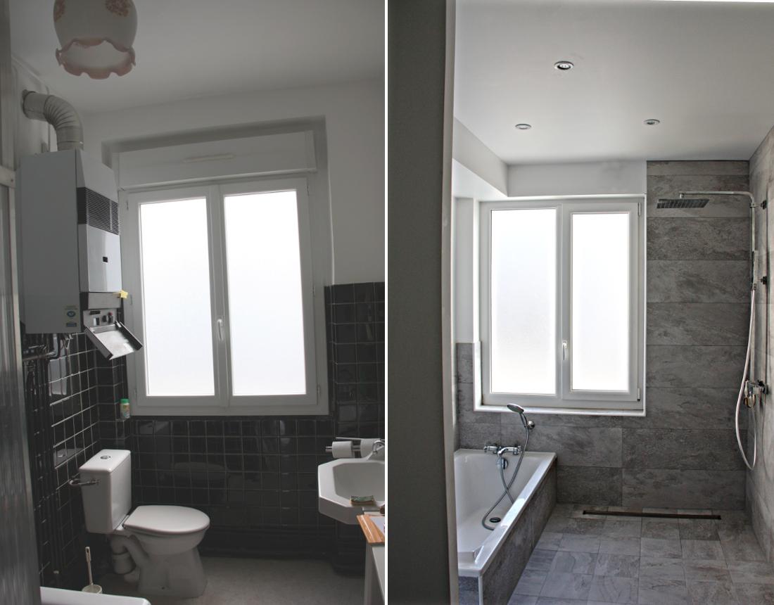 Transformation d'une salle de bain vieillissante en espace douche à l'italienne